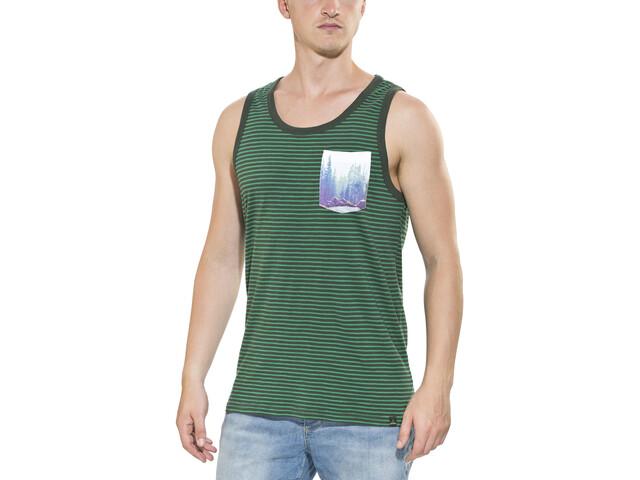 Prana Shuffle camicia a maniche corte Uomo grigio/verde